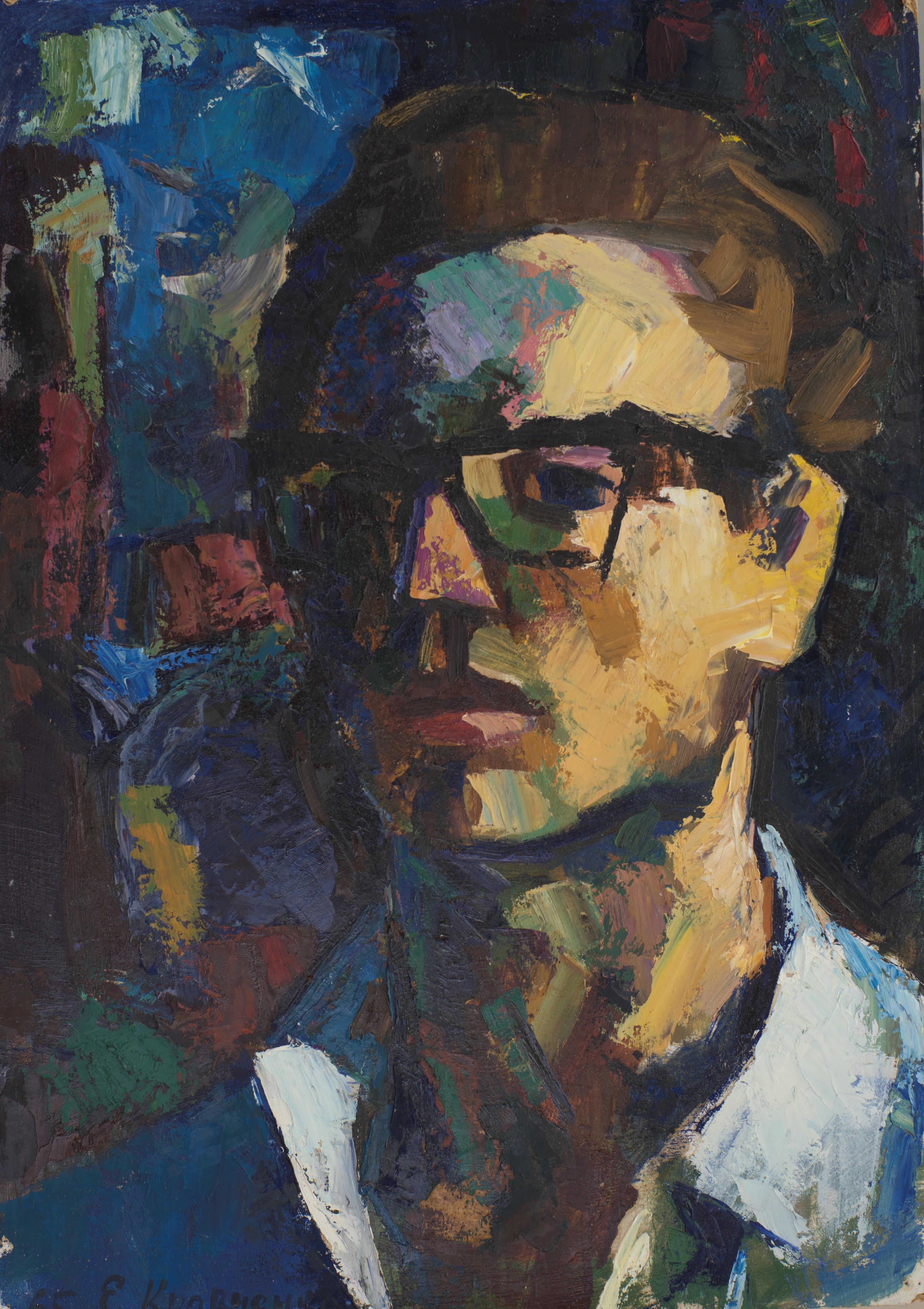 Автопортрет. 1965. Картон, масло. 75х50. Из собрания Фонда Марджани.jpg