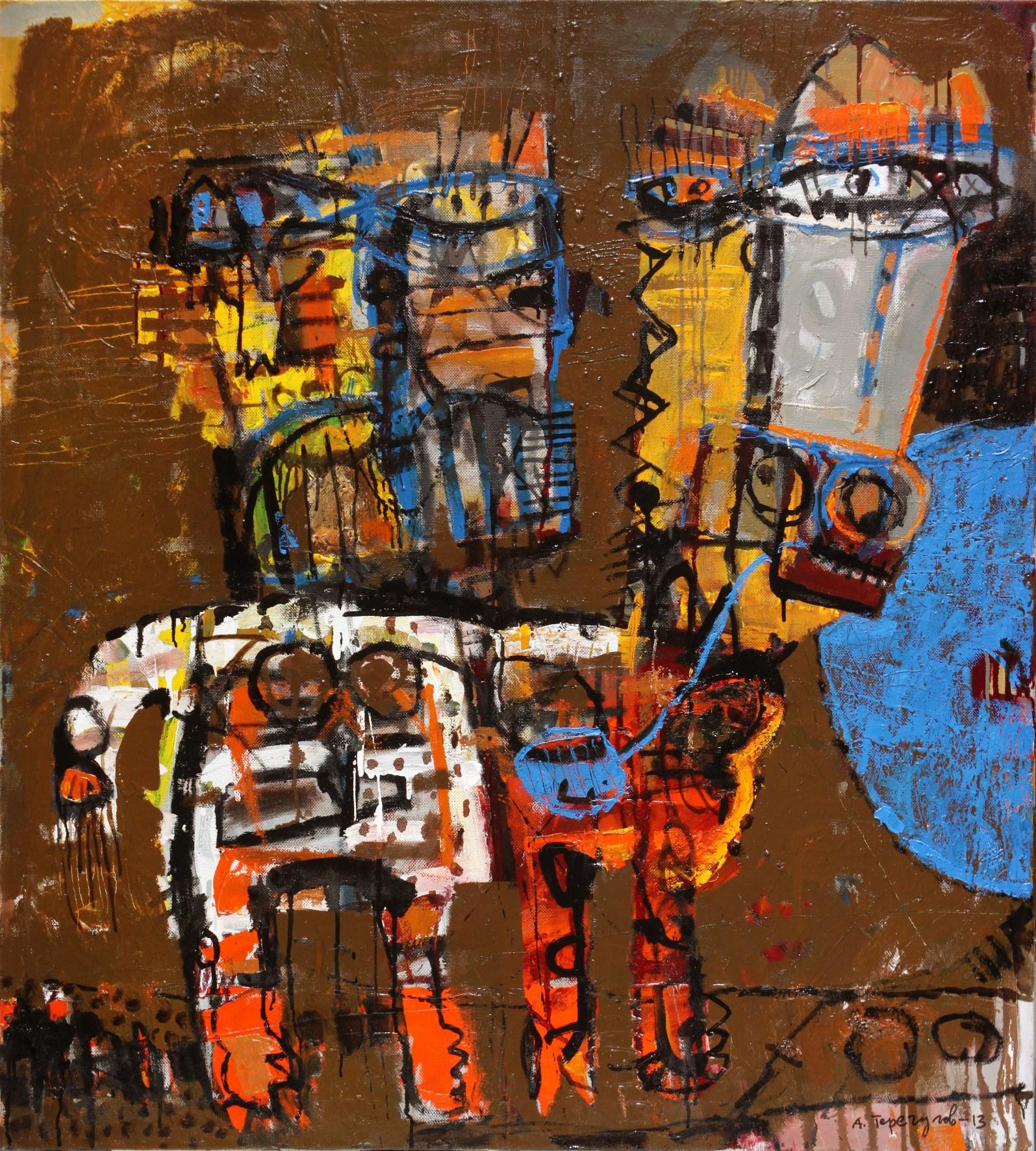 Айрат Терегулов. Загруженный ишак. 2013. Холст, акрил. 110х100.jpg