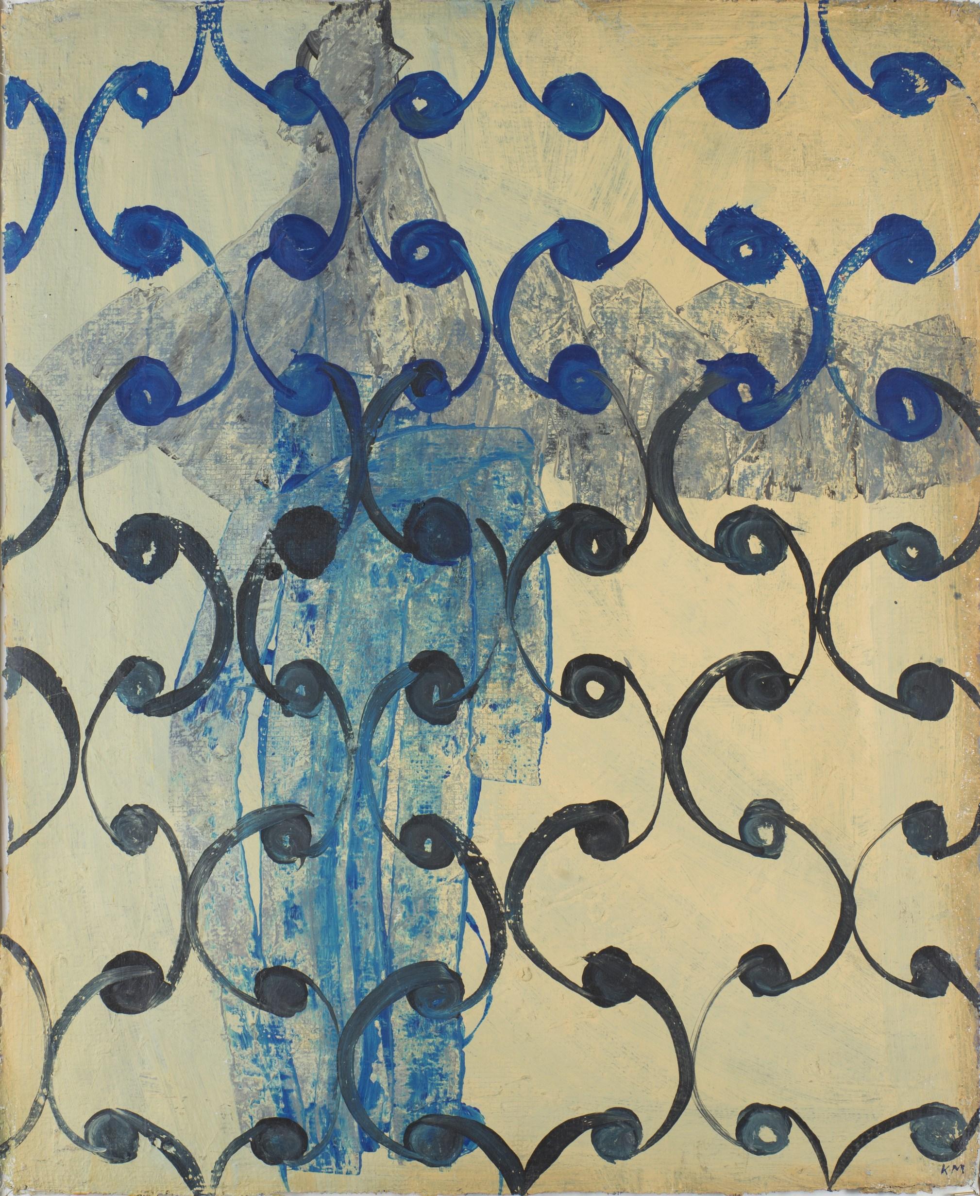 Магомед Кажлаев. М-1. 2013. Армированная бумага, акрил. 83х50 см Коллекция Фонда Марджани.jpg