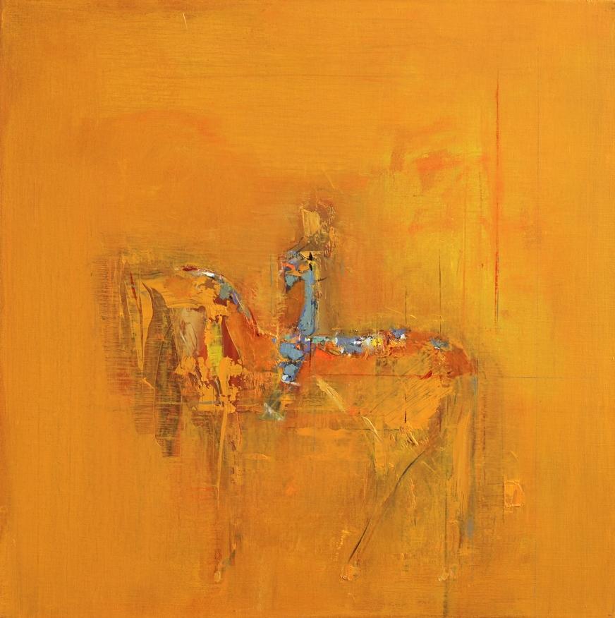Расих Ахметвалиев  Желтый всадник 2011 Холст, масло  60х60 см.jpg