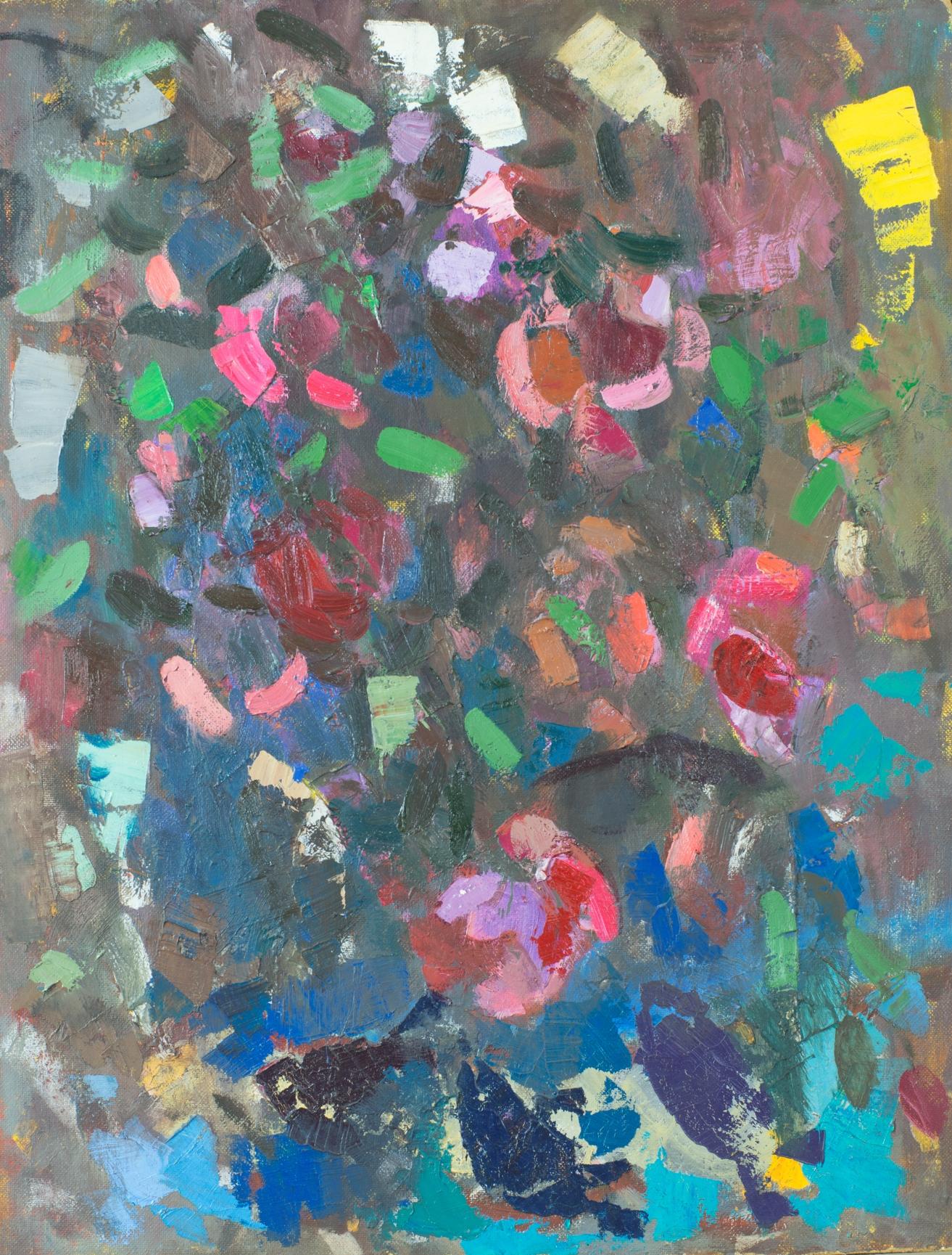 Рыбы и шаартузские розы. 1993. Оргалит, масло. 83х72. Из собрания Фонда Марджани.jpg