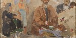 "Макс Бирштейн Серия ""Самарканд"" 1942 г. Холст, масло 18х21 см Коллекция Фонда Марджани"