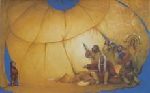 Азат Миннекаев. Таграк. Иллюстрация к эскимосской легенде. 2007. Бумага, темпера, акварель. 37,5х55,5 см. Коллекция Фонда Марджани