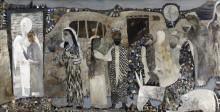 Файзулла Ахмадалиев. Бухарцы. 2009  Холст; масло, графитный карандаш. Коллекция Фонда Марджани