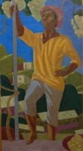 Виноградарь  2017, х.м.  120х60 Фонд Марджани