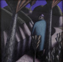 Внук Тимура. 1989. Холст, масло. 100х100 см. Коллекция Юлии Вербицкой (Линник)