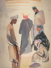Еремян В.Н. В Узбекистане. Начало 1930-х. Бумага, акварель. 33,5х26,7