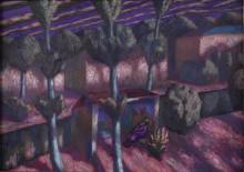 Забытая остановка. 2009. Холст, масло. 50х90 см. Коллекция Юлии Вербицкой (Линник)