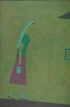Ринат Харисов Идущая 1994-1995 Холст, масло 130х81 Коллекция Фонда Марджани