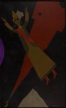 Ринат Харисов Сююмбике царица Казанская 2009 Холст, акрил 147х89 Коллекция Фонда Марджани