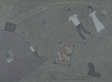 Ринат Харисов Черно-белое кино 2003 Холст, акрил 50х70 Коллекция Фонда Марджани
