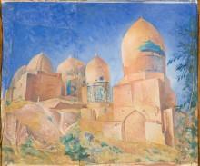 Самохвалов А.Н. Шахи Зинда. 1921. Бумага, гуашь. 43х51,5